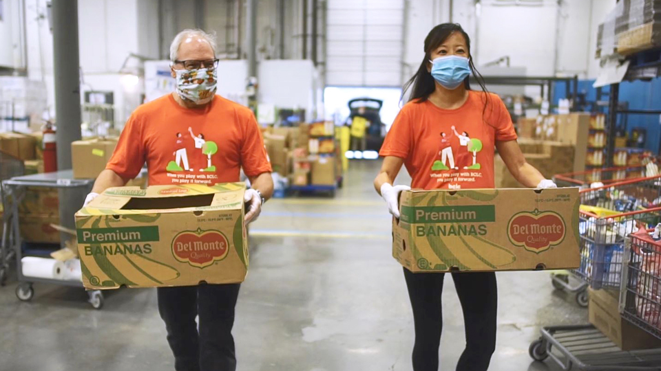 BCLC staff volunteering at Greater Vancouver Food Bank